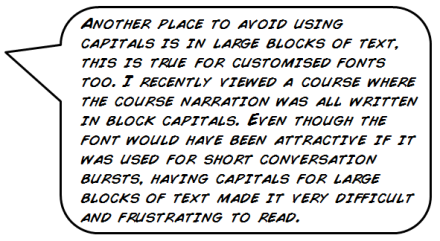 my block text graphic