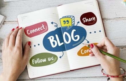 Blog Share Follow us Concept